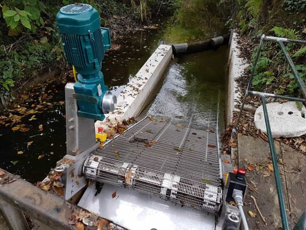 Maximising the generating capacity of a Cornish hydropower scheme using the GoFlo self-cleaning water intake screen.